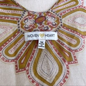 woven heart Tops - Woven Heart   Kimono Coverup Floral Prints (A101)